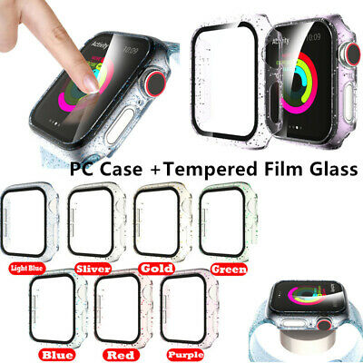 $ CDN6.30 • Buy For Apple Watch Series 5 4 3 2 1 PC Case Full Cover Screen Protector Accessories