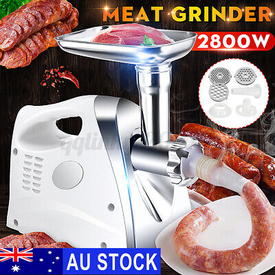 AU49.96 • Buy AU 2800W Electric Meat Grinder Sausage Maker Food Filler Kibbe Stuffer Mincer