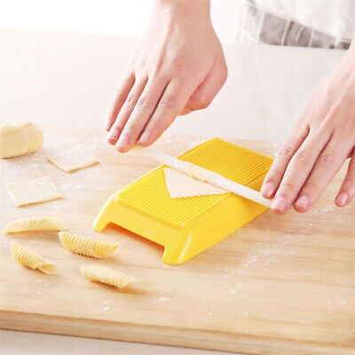 AU8.45 • Buy Pasta Macaroni Board Spaghetti Gnocchi Maker Rolling Pin Kitchen Baby Food Y4