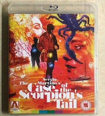 The Case Of The Scorpion's Tail Bluray Arrow Reg B Only Sergio Martino • 13£