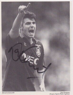 £5 • Buy DAVID UNSWORTH (Everton West Ham Portsmouth Wigan FC) Hand SIGNED Picture