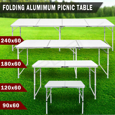 Heavy Duty Folding Table Portable Aluminium Camping Garden Party Trestle Caravan • 27.59£