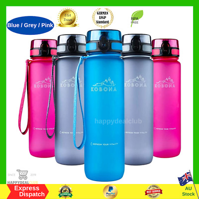 AU36.99 • Buy KOBONA 1 Litre Motivational Smart Water Bottle With Time Markings Hydration, ONE