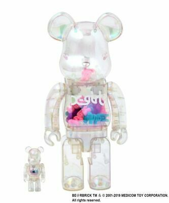 $895 • Buy X-Girl X Bearbrick 400% And 100% Clear Figure Japan