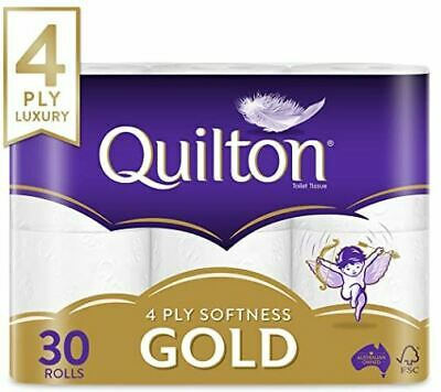 AU32.95 • Buy 30 X Quilton 4 Ply Toilet Paper Tissue (140 Sheets Per Roll)  30 Rolls