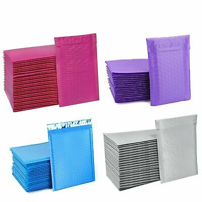 $14.99 • Buy Any Size Poly Bubble Mailers Shipping Mailing Padded Bags Envelopes Color