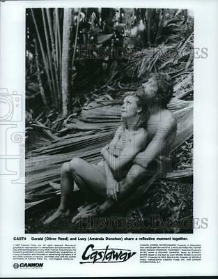 1987 Press Photo Amanda Donohoe And Oliver Reed Star In  Castaway  - Lrp39459 • 14.12£