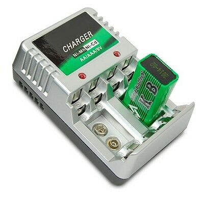 AU14.52 • Buy Rechargeable Battery Charger AA AAA 9V Ni-MH Ni-Cd Batteries Chargers