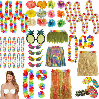 Tropical Hawaiian Luau Garden Party BBQ Tiki Decorations Beach Pool Accessories • 1.99£