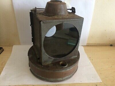 Great Western Railway Copper Signal Lamp Body Stamped Br Wr Restoration Project • 37.76£