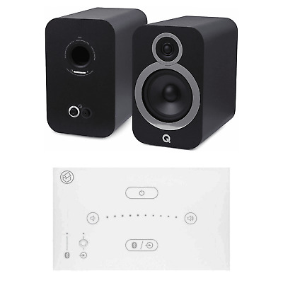 Home Music System With White Systemline E50 & Q Acoustics 3030i Speakers - Black • 528£