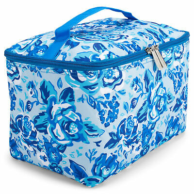 $21.95 • Buy Viv & Lou Blue Ivy Floral 10 X 7 Polyester Travel Cosmetic Bag Tote