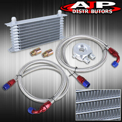 $ CDN109.40 • Buy 9 Row An10 10An Engine Transmission Oil Cooler Relocation Adapter Kit Set Silver