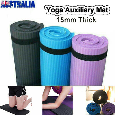 AU14.89 • Buy Yoga Auxiliary Mat 15mm Thick Exercise Fitness Pilates Camping Gym Meditation