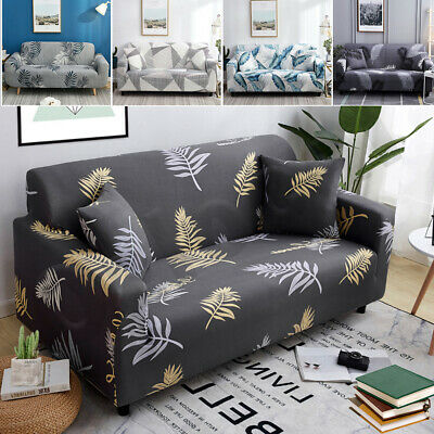 AU21.99 • Buy 1 2 3 4 Seater Stretch Sofa Cover Couch Lounge Chair Floral Slipcover Protector