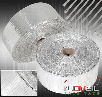 $ CDN46.82 • Buy 360  30Ft Insulation Heat Wrap Shield Reduction Intake Induction Piping Silver