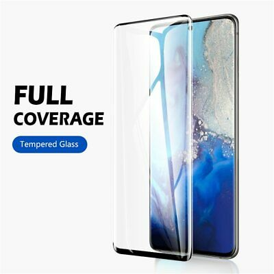 $ CDN2.63 • Buy For Samsung Galaxy S10 S20 S9 S8 Plus Tempered Glass Screen Protector Film Black