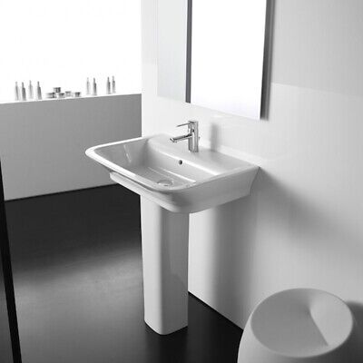 £167.95 • Buy Roca The Gap Basin And Full Pedestal, 550mm Wide, 1 Tap Hole