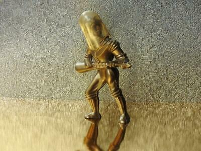 ARCHER TOY U.S.A VINTAGE 1950s PLASTIC SPACE PEOPLE SERIES 4 INCH GOLD SPACEMAN • 29.99£