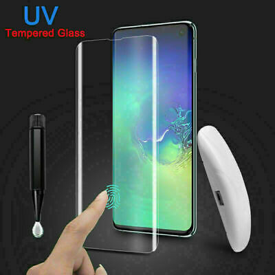 UV Curved Tempered Glass Screen Protector For Samsung S20 S20+ S10 S9 Note10+ • 8.99£