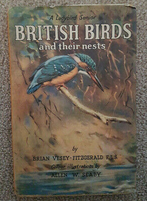 British Birds And Their Nests, A Ladybird Senior Vintage Book Dust Cover • 6£