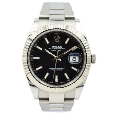 $ CDN13282.75 • Buy Rolex Datejust 41 126334 18k White Gold And Stainless Steel - 2018