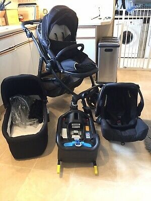 Graco Evo XT Travel System Pushchair Pram Car Seat Carrycot Includes Accessories • 100£