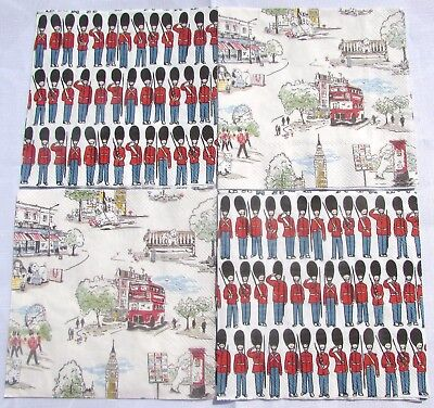 £2.75 • Buy Cath Kidston Paper Napkins X 4 - 2 Of Each Guards/billie Goes To Town Decoupage