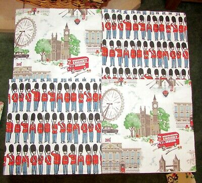 Cath Kidston Paper Napkins X 4 - 2 Of Each Guards/london Town White Decoupage • 2.75£