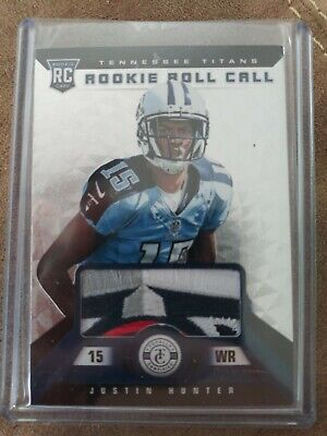 $13.99 • Buy 2013 Totally Certified Rookie Roll Call SICK Patch #/25 JUSTIN HUNTER RC TITANS