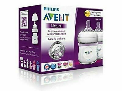 AU26.95 • Buy Philips Avent Natural Feeding 2 X 125mL Bottles Nat Lactation No BPA Anti Colic