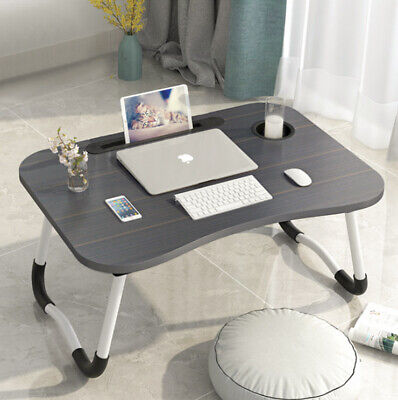 Bed Tray Portable Folding Laptop Desk Computer Table Notebook Cup Slot Stand Lap • 16.99£