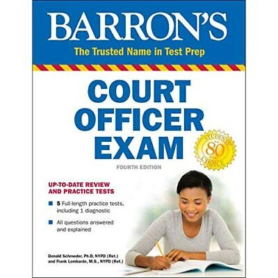 AU27.55 • Buy Barron's Court Officer Exam - Paperback / Softback NEW Schroeder, Ph.D 01/02/201