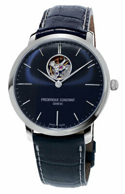 $1044.75 • Buy Frederique Constant Slimline Automatic Blue Leather Strap Mens Watch FC-312N4S6