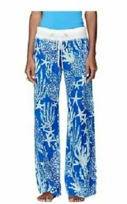 $45 • Buy Lilly Pulitzer Beach Linen Pant Pants  Blue REEF Size Small