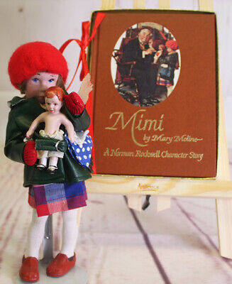 $69 • Buy Mary Moline Signed Numbered Mimi Norman Rockwell Story Book With Porcelain Doll