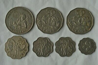 $6 • Buy Swaziland Coin Set - 7 Different Coins