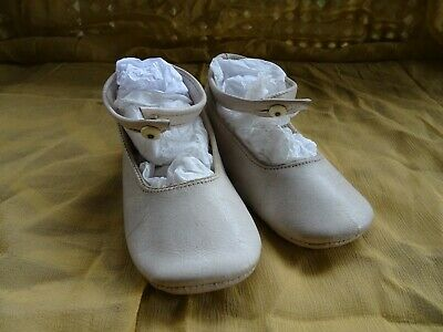 AU10 • Buy VINTAGE 1950s BABY / TODDLER SHOES WHITE LEATHER ANKLE STRAP SOFT SOLE
