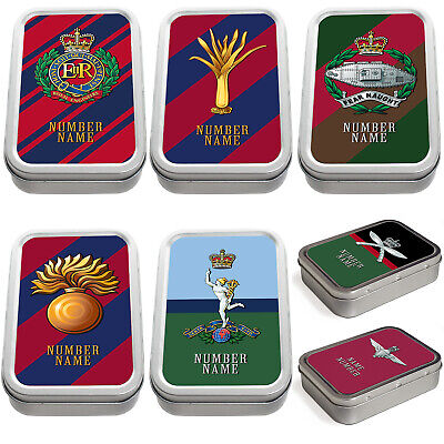 Personalised Military Tobacco Tin 2oz Pill Box Remembrance Army Official Gift  • 7.95£