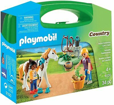 9100 Playmobil Horse Grooming Carry Case Country Playset Suitable For Age 5yrs+ • 9.99£