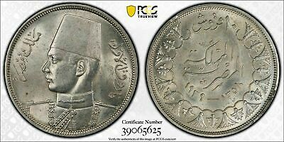 $125 • Buy AH 1358 1939 Egypt 10 Piastres PCGS MS62 Lot#G110 Silver! Nice UNC!