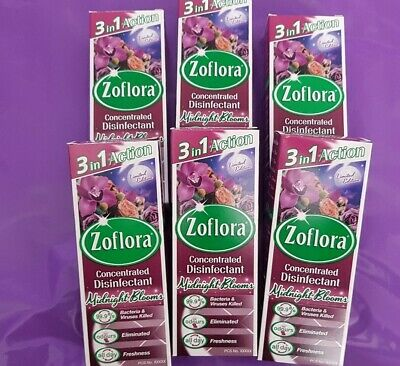 6x Zoflora Midnight Bloom 120ml Concentrated Disinfectant  • 16.99£