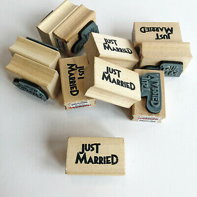BN East Of India Just Married Mini Rubber Stamp Bundle Job Lot X 11 Wedding  • 3.99£
