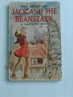 Vintage Ladybird Book..' Jack And The Beanstalk With Dust Jacket Series 413 . • 39.99£