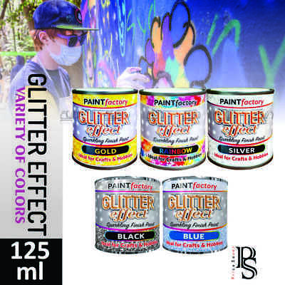 Glitter Effect Sparkling Finish Craft/Hobby Paint 125ml In 5 Different Colours • 4.89£