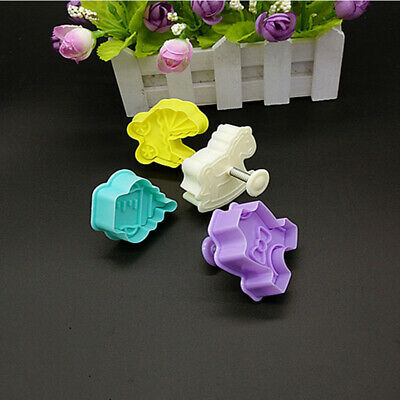 £3.10 • Buy Fondant Cake Plunger Cutter Mould Biscuit Mold 4pcs Baby Shower Clothes Cookies