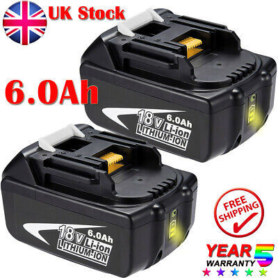 2 Pack For Makita BL1860B 18V Li-Ion Replacement Battery LXT BL1830 BL1850 6.0AH • 51.99£