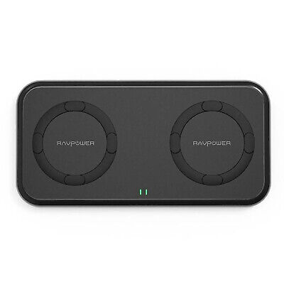 AU25.80 • Buy RAVPower RP-PC065 10W Dual Coil Smartphone Wireless Portable Device Charger