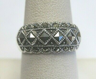 $16.99 • Buy Vintage Charles Winston CW Signed Sterling Silver Ring With Marcasite Accents