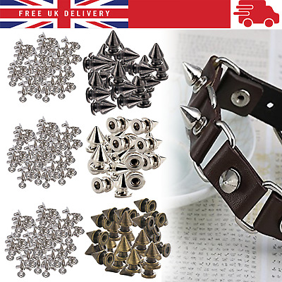 100pcs Tree Shape Punk Spike Stud Rivets With Pins For Leather Craft Biker Shoes • 4.09£